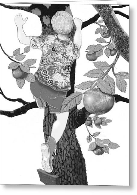 Greeting Card featuring the digital art Where The Best Apples Are by Carol Jacobs