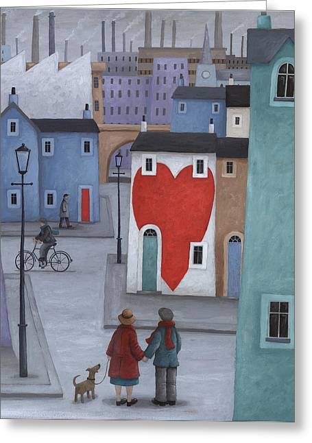 Where The Heart Is Greeting Card by Peter Adderley