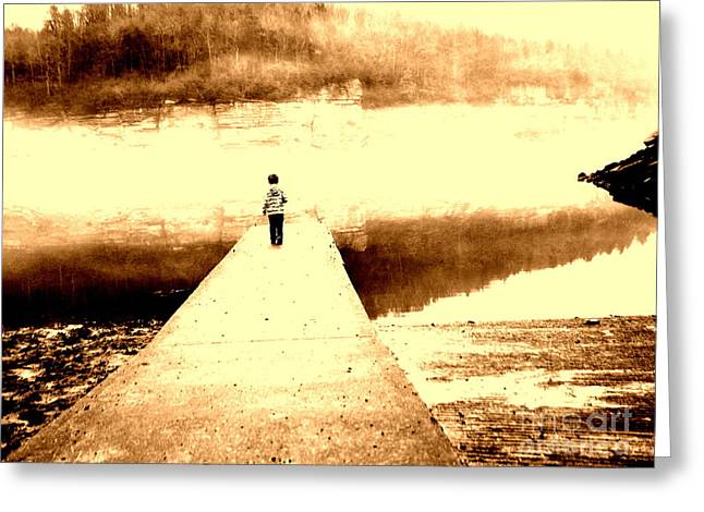 Where The Sidewalk Ends Greeting Card by Amy Sorrell