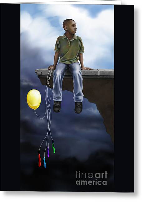 Greeting Card featuring the digital art Where The Sidewalk Ends by Dwayne Glapion