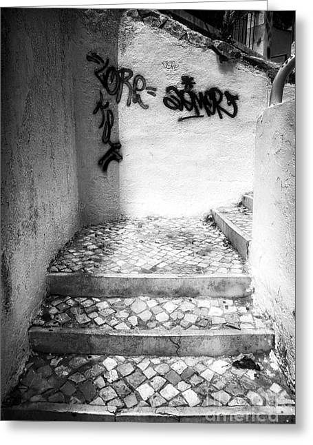 Where The Stairs May Lead Greeting Card by John Rizzuto