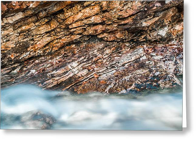 Where Water And Rock Collide Greeting Card by Shelby  Young