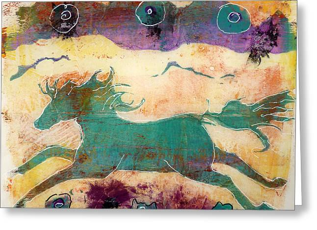 Where Wild Horses Roam Greeting Card