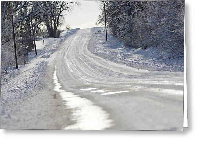 Greeting Card featuring the photograph Where Will The Road Take You? by Dacia Doroff