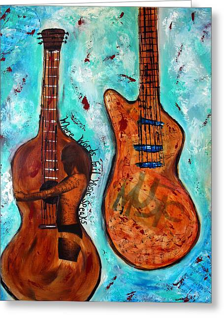 Where Words Fail Music Speaks IIi  Greeting Card by Victoria  Johns