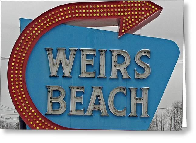 Where's Weirs? Greeting Card by Barbara McDevitt