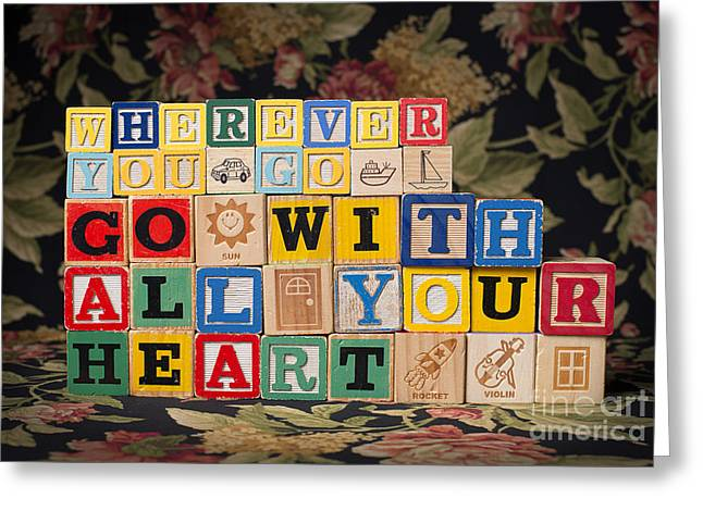 Wherever You Go Go With All Your Heart Greeting Card by Art Whitton