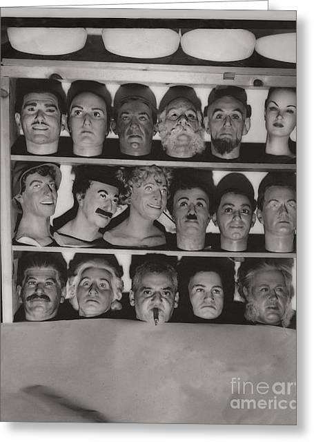 Which Is The Real Ventriloquist Head - Hollywood 1951 Greeting Card