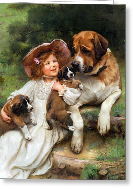 Which May I Keep Greeting Card by Arthur John Elsley