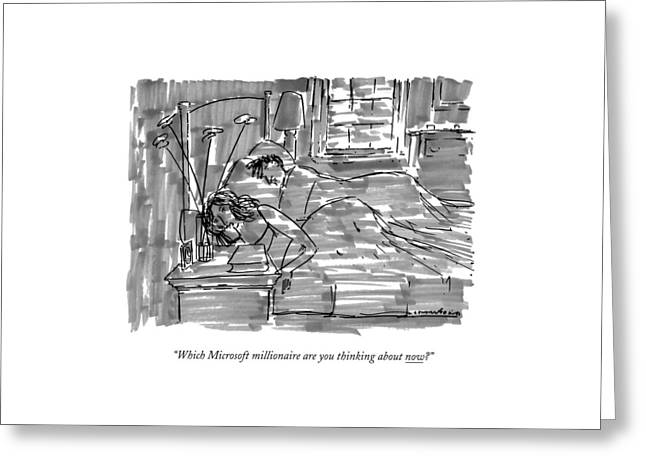 Which Microsoft Millionaire Are You Thinking Greeting Card by Michael Crawford