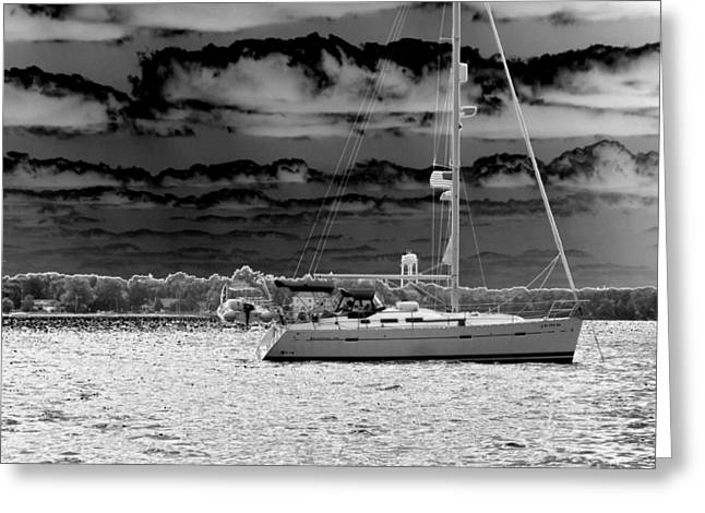 Whilst We Were Sailing Greeting Card by Rick Todaro
