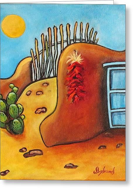 Whimsical Adobe Greeting Card by Judy Lybrand