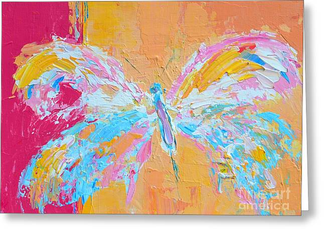 Whimsical Butterfly Greeting Card by Patricia Awapara