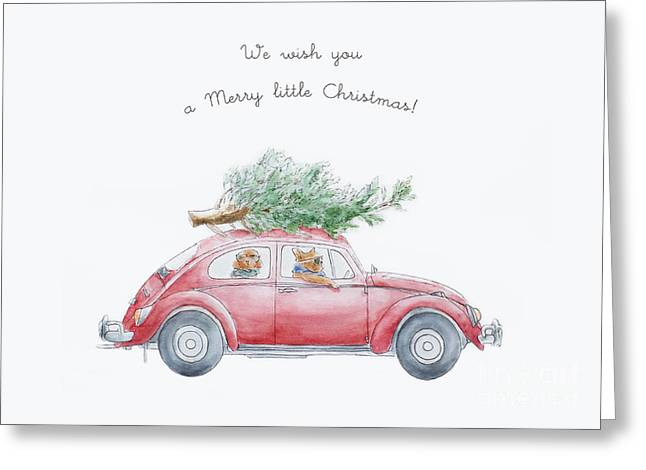 Whimsical Christmas Card Greeting Card by Design Remix