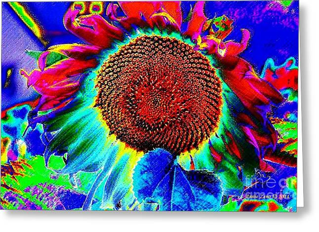 Whimsical Colorful Sunflower Greeting Card