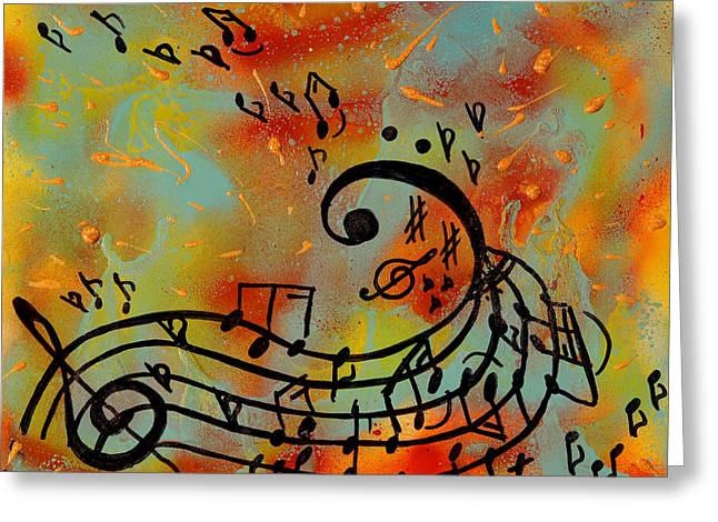 Whimsical Melody Greeting Card