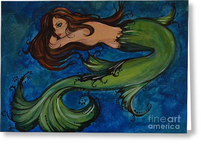 Whimsical Mermaid Greeting Card by Valarie Pacheco