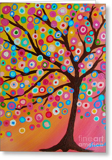 Whimsical Tree Of Life Greeting Card