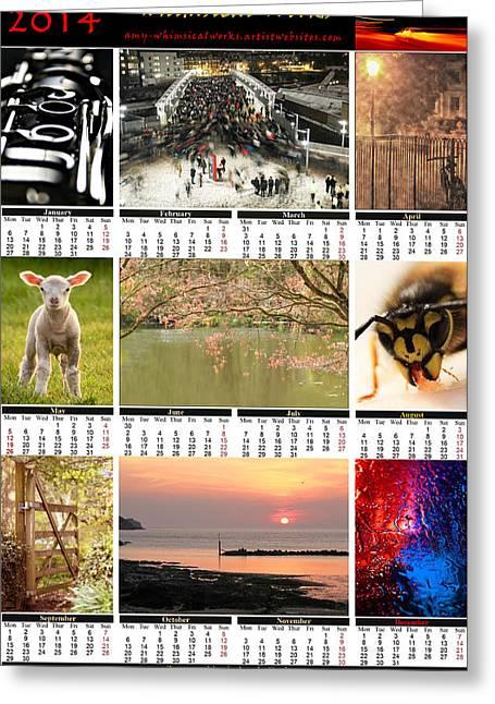 Whimsicalworks Calendar 2014 Greeting Card