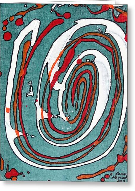 Whirl 2 Greeting Card by Kenny Henson