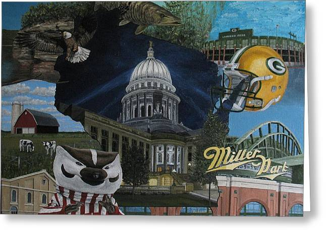 Whirlwind Around Wisconsin Greeting Card by Rick Yanke
