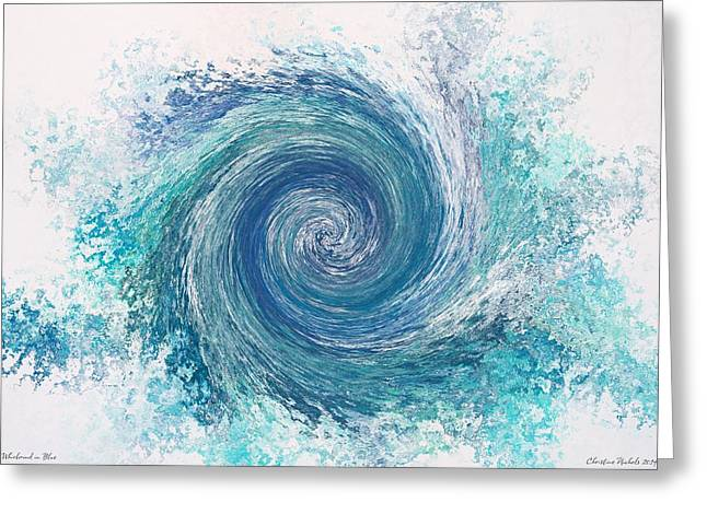 Whirlwind In Blue Greeting Card