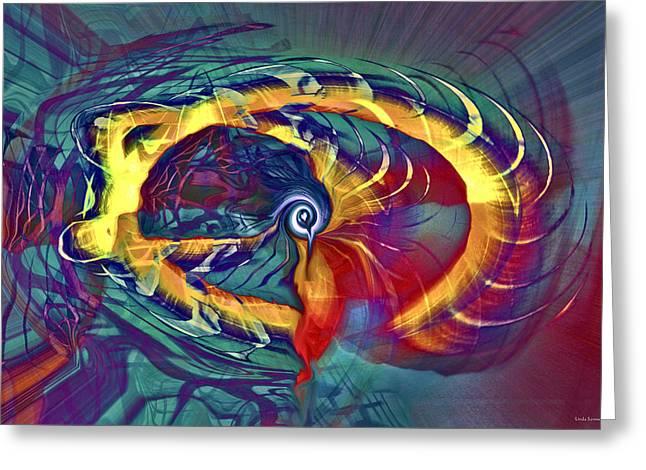 Whirlwind Greeting Card by Linda Sannuti