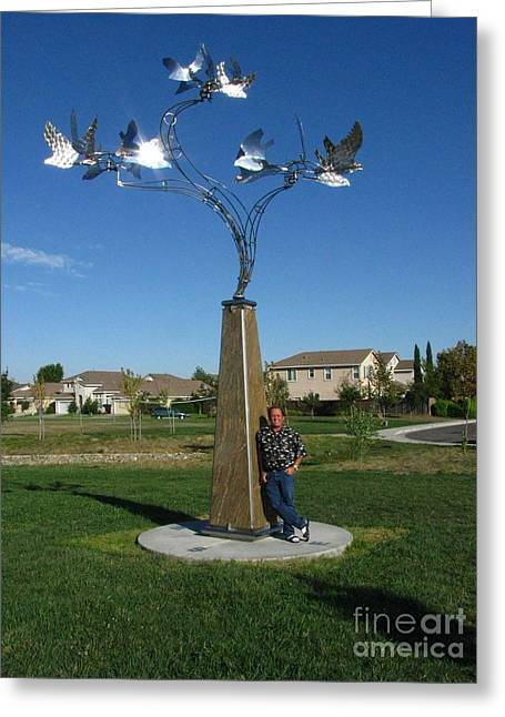 Whirlybird Greeting Card by Peter Piatt