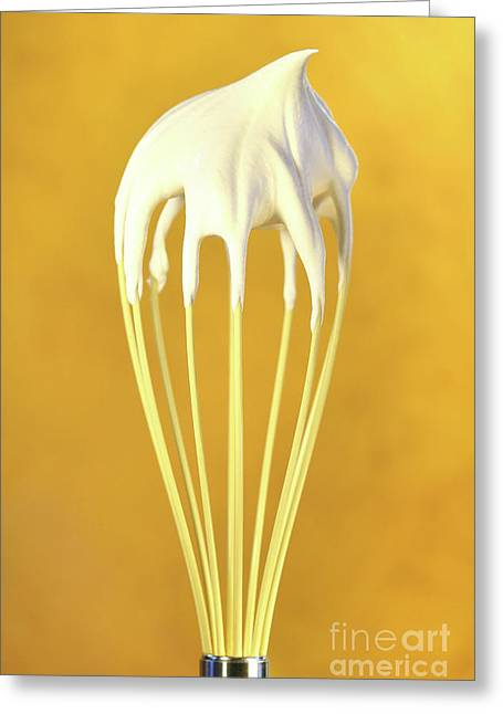 Whisk With Whip Cream On Top Greeting Card by Sandra Cunningham
