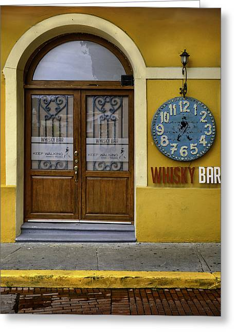Greeting Card featuring the photograph Whiskey Bar by Rob Tullis