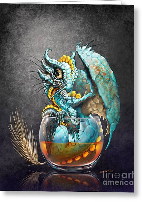 Whiskey Dragon Greeting Card
