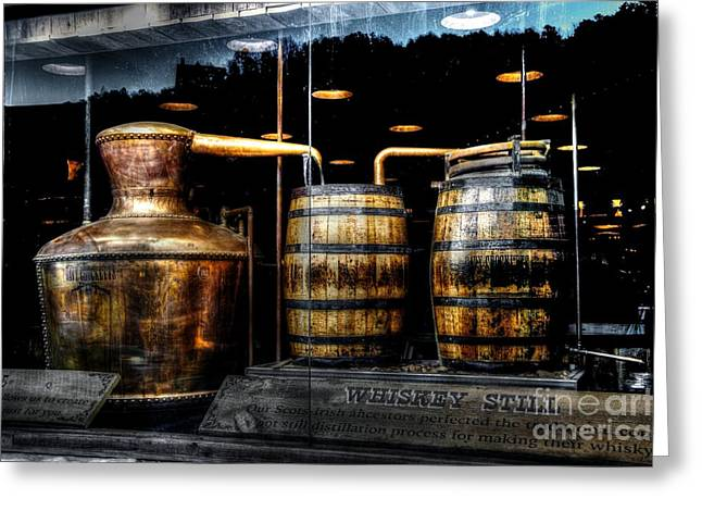 Whiskey Still On Main Street Greeting Card by Paul Mashburn