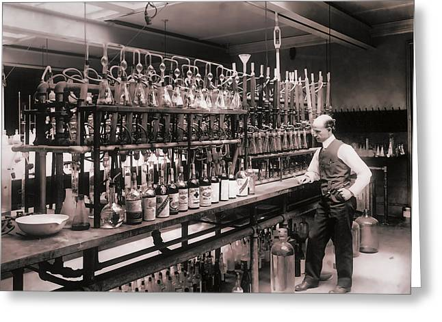 Whiskey Test Lab  1914 Greeting Card