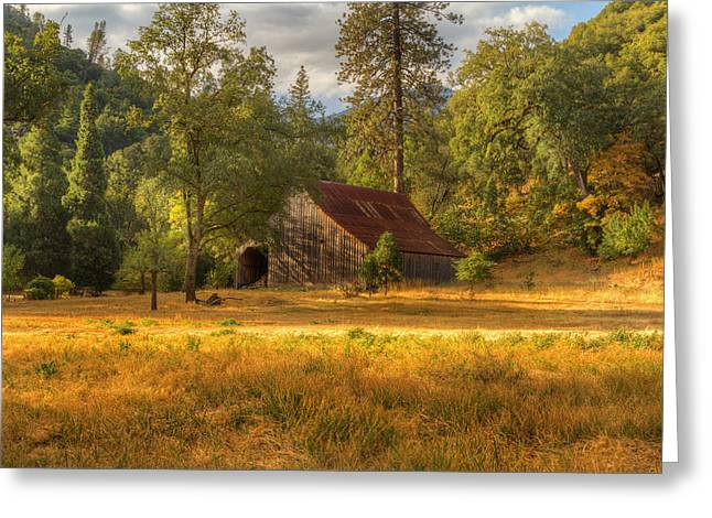 Whiskeytown Barn Greeting Card