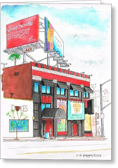 Whisky-a-go-go In West Hollywood - California Greeting Card by Carlos G Groppa