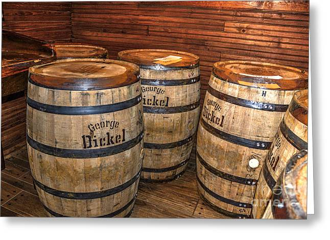 Whisky Barrels Greeting Card by Paul Mashburn