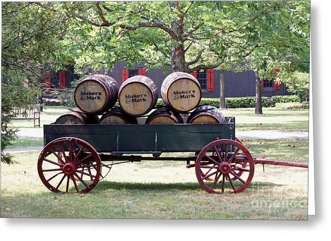 Whisky Wagon Greeting Card