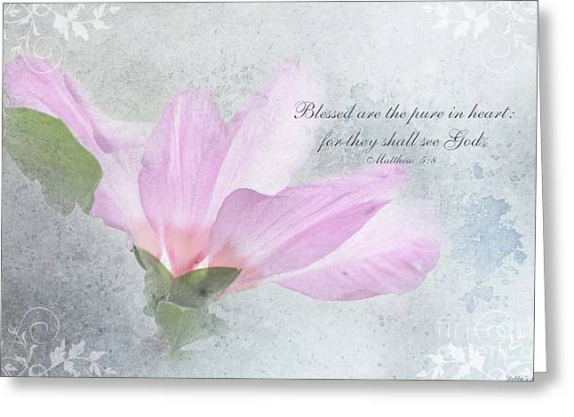 Whisper To Me With Verse Greeting Card by Debbie Portwood
