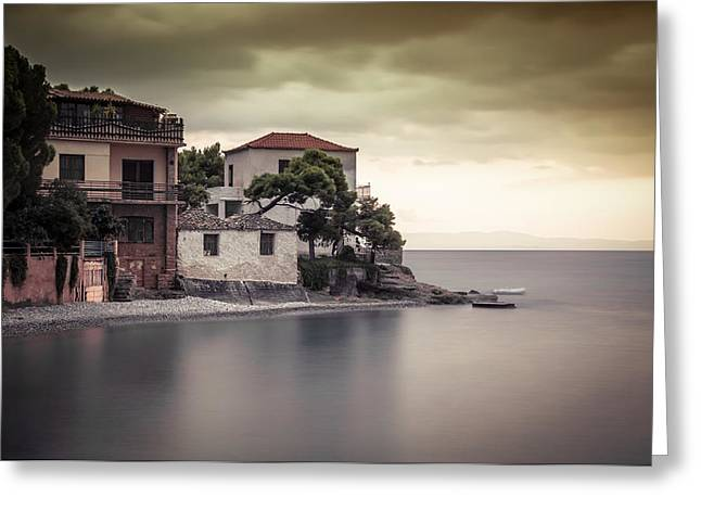 Whispers Of Autumn On Top On The Sea Greeting Card by Stavros Argyropoulos
