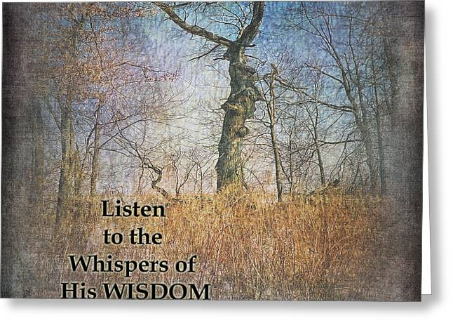 Whispers Of Wisdom Greeting Card