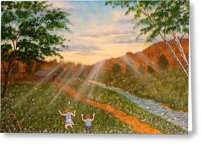 Whispers To God Greeting Card by David Bentley