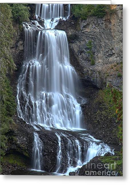 Whistler Bc Alexander Falls Greeting Card by Adam Jewell