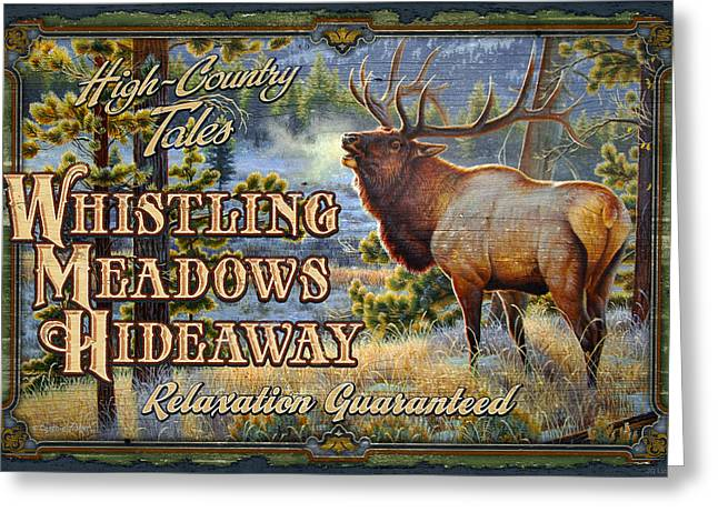 Whistling Meadows Elk Greeting Card by JQ Licensing