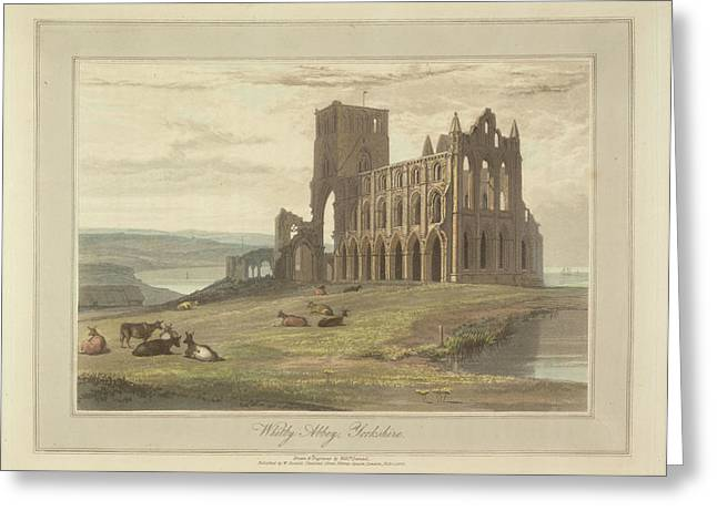 Whitby Abbey Greeting Card by British Library
