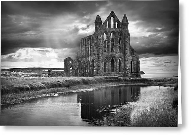 Whitby Abbey Greeting Card by Ian Barber