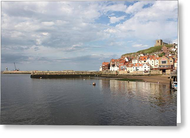 Greeting Card featuring the photograph Whitby Abbey N.e Yorkshire by Jean Walker