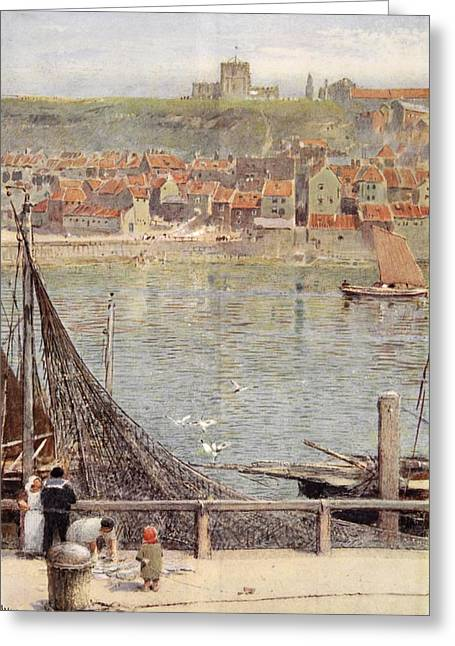 Whitby Greeting Card by Albert Goodwin