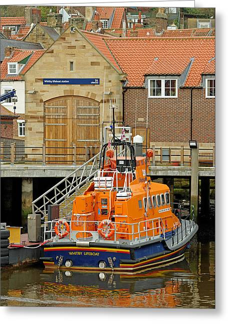 Whitby Lifeboat And Lifeboat Station Greeting Card by Rod Johnson