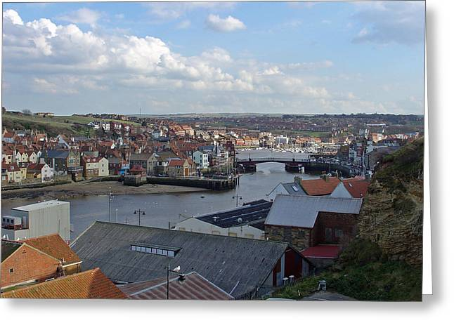 Whitby Rooftops Greeting Card