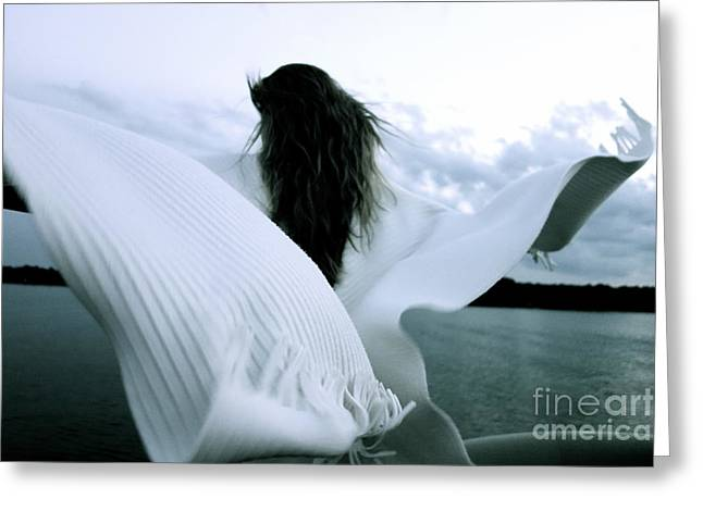 Greeting Card featuring the photograph White Angel by Jacqueline Athmann